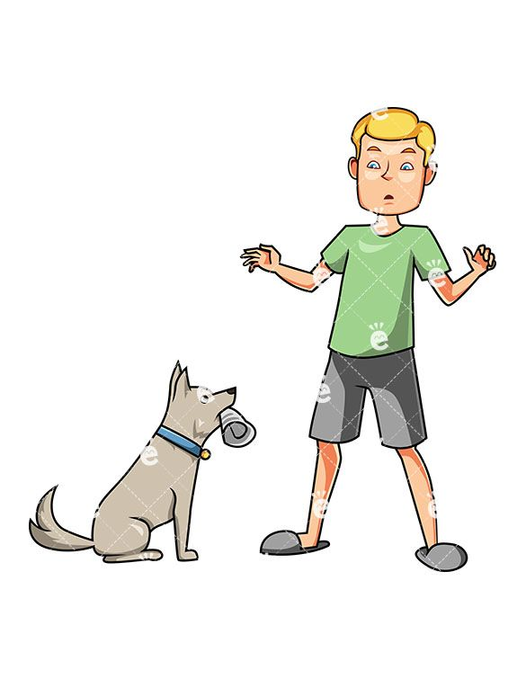 A dog fetching clipart png free A Man Surprised With His Obedient Dog Fetching The Newspaper in 2019 ... png free