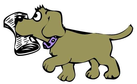 A dog fetching clipart svg library download Dog With Newspaper Clipart | Free download best Dog With Newspaper ... svg library download