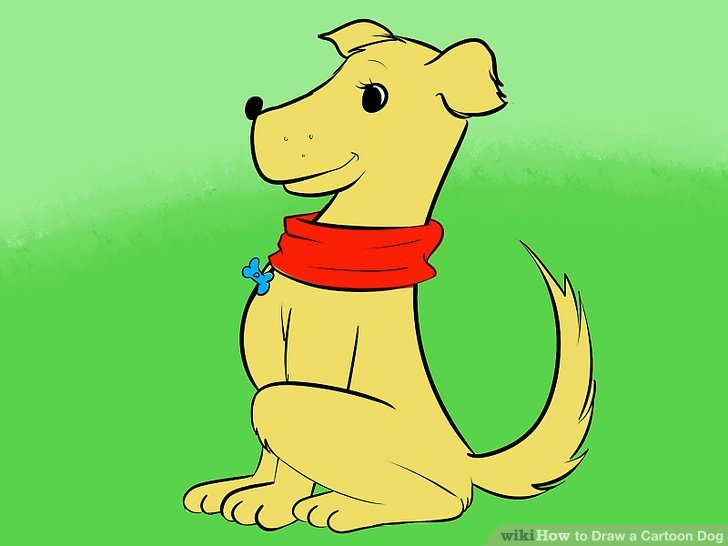 A dog sitting at man feet clipart vector royalty free stock 6 Easy Ways to Draw a Cartoon Dog (with Pictures) - wikiHow vector royalty free stock