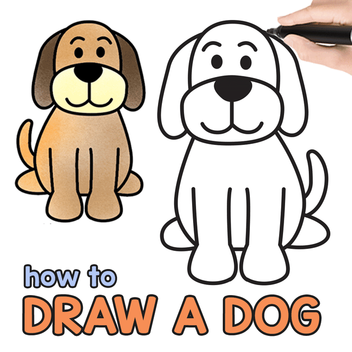 A dog sitting at man feet clipart clip art royalty free How to Draw a Dog - Step by Step Drawing Tutorial for a Cute Cartoon ... clip art royalty free