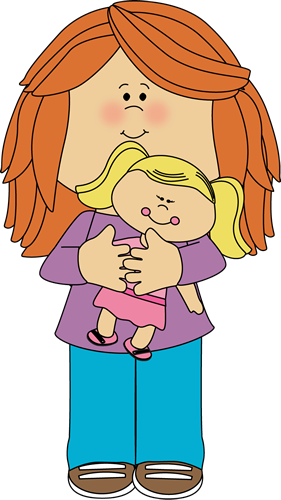 Kids playing with dolls clipart black and withe svg library library Little Girl Holding a Doll | Clip art for schedules | Clip art, Art ... svg library library