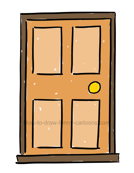 A door clipart image black and white stock How to draw a door clipart image black and white stock