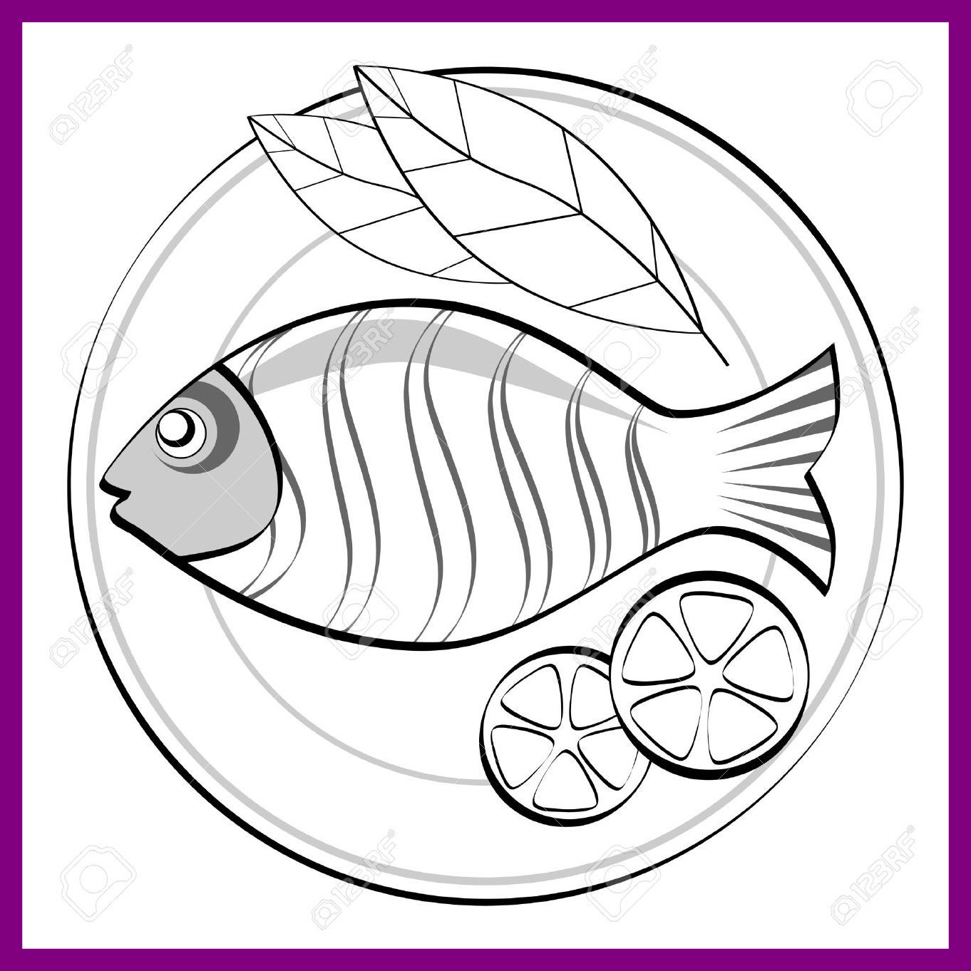 A drawing of a fish in a roll clipart banner royalty free stock Fried Fish Drawing at PaintingValley.com | Explore collection of ... banner royalty free stock