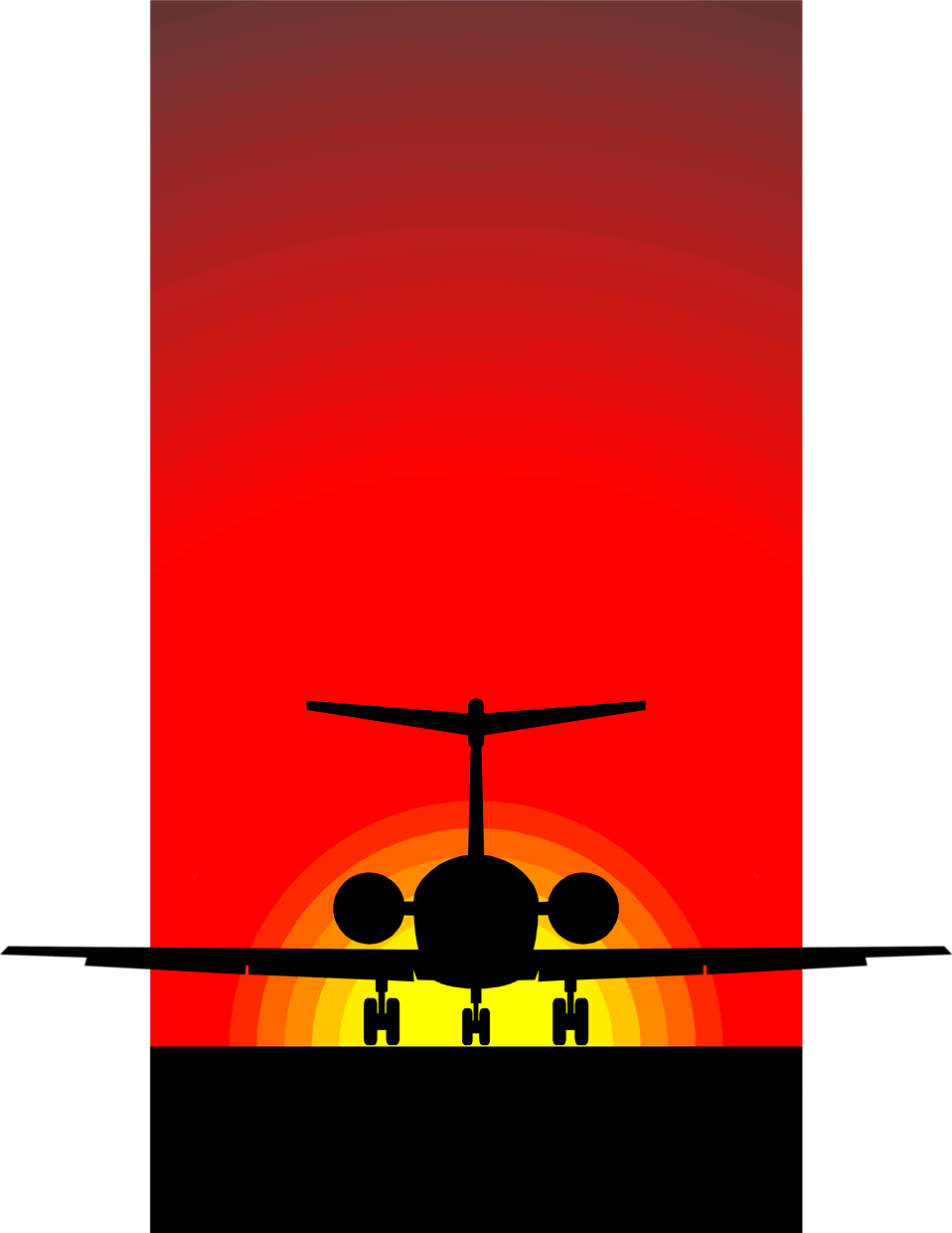 Sun with plane clipart clip freeuse stock Sunset Silhouette Art at GetDrawings.com | Free for personal use ... clip freeuse stock