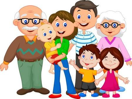 A family cartoon clipart image freeuse download Stock Vector | very cute | Family clipart, Family picture cartoon ... image freeuse download