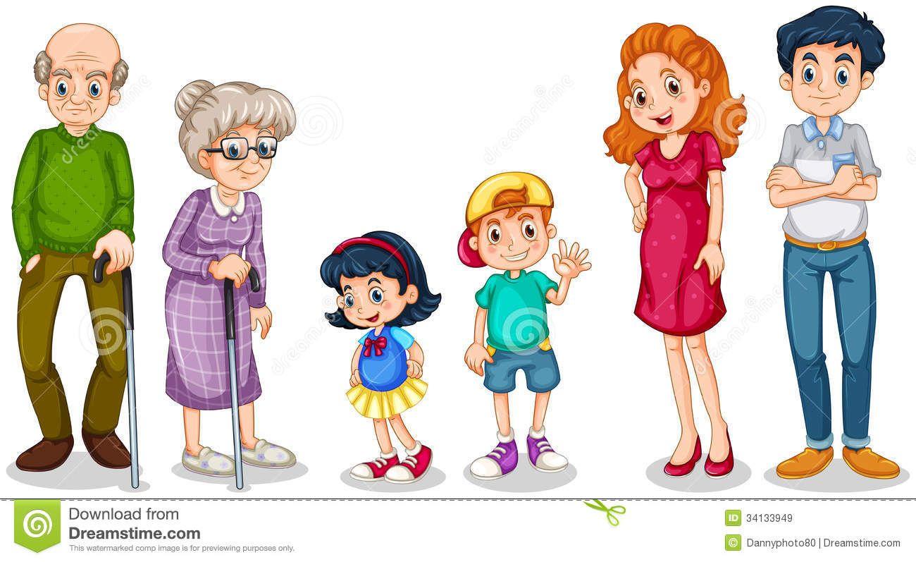 A family cartoon clipart clip transparent download Clipart Family Members Clipart family members faces | first ... clip transparent download