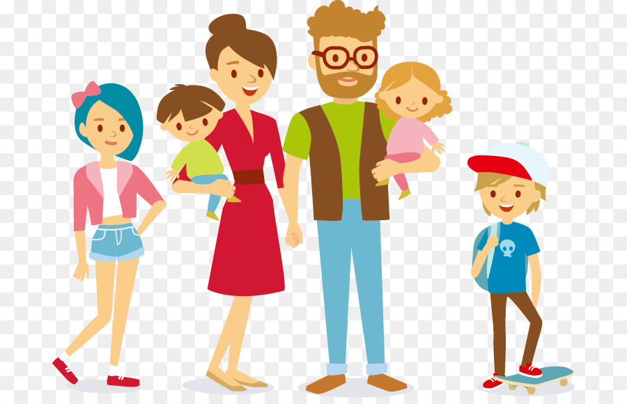 A family cartoon clipart image royalty free download Group Of People Background png download - 750*571 - Free Transparent ... image royalty free download