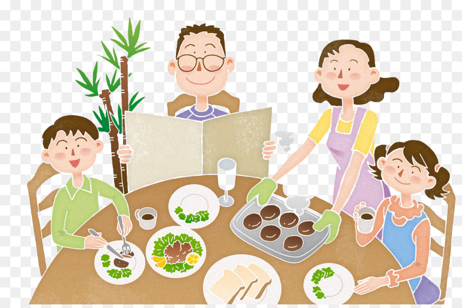 A family eating food clipart jpg library stock Family Smile png download - 1024*675 - Free Transparent Eating png ... jpg library stock