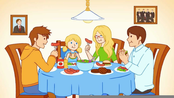 A family eating food clipart png freeuse stock Family Eating Together Clipart | Free Images at Clker.com - vector ... png freeuse stock