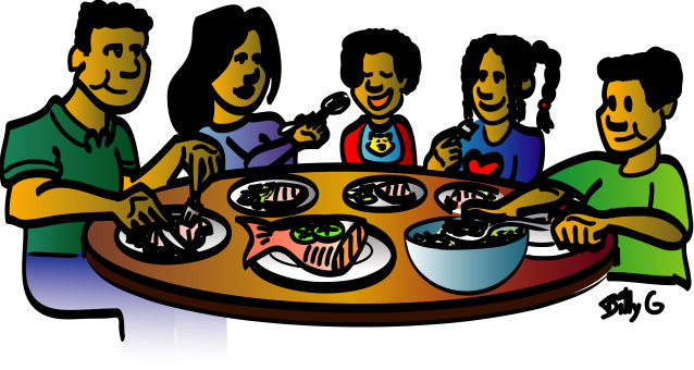 Clipart family dinner cooking black and white clipart library library Free Family Eating Clipart, Download Free Clip Art, Free Clip Art on ... clipart library library
