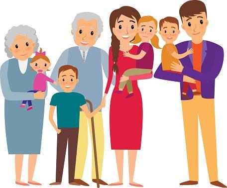 Clipart of a big family clip freeuse Big Family Portrait premium clipart - ClipartLogo.com clip freeuse