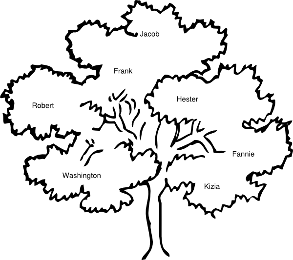 Family tree vector clipart black and white stock Cook Family Reunion Tree Clip Art at Clker.com - vector clip art ... black and white stock