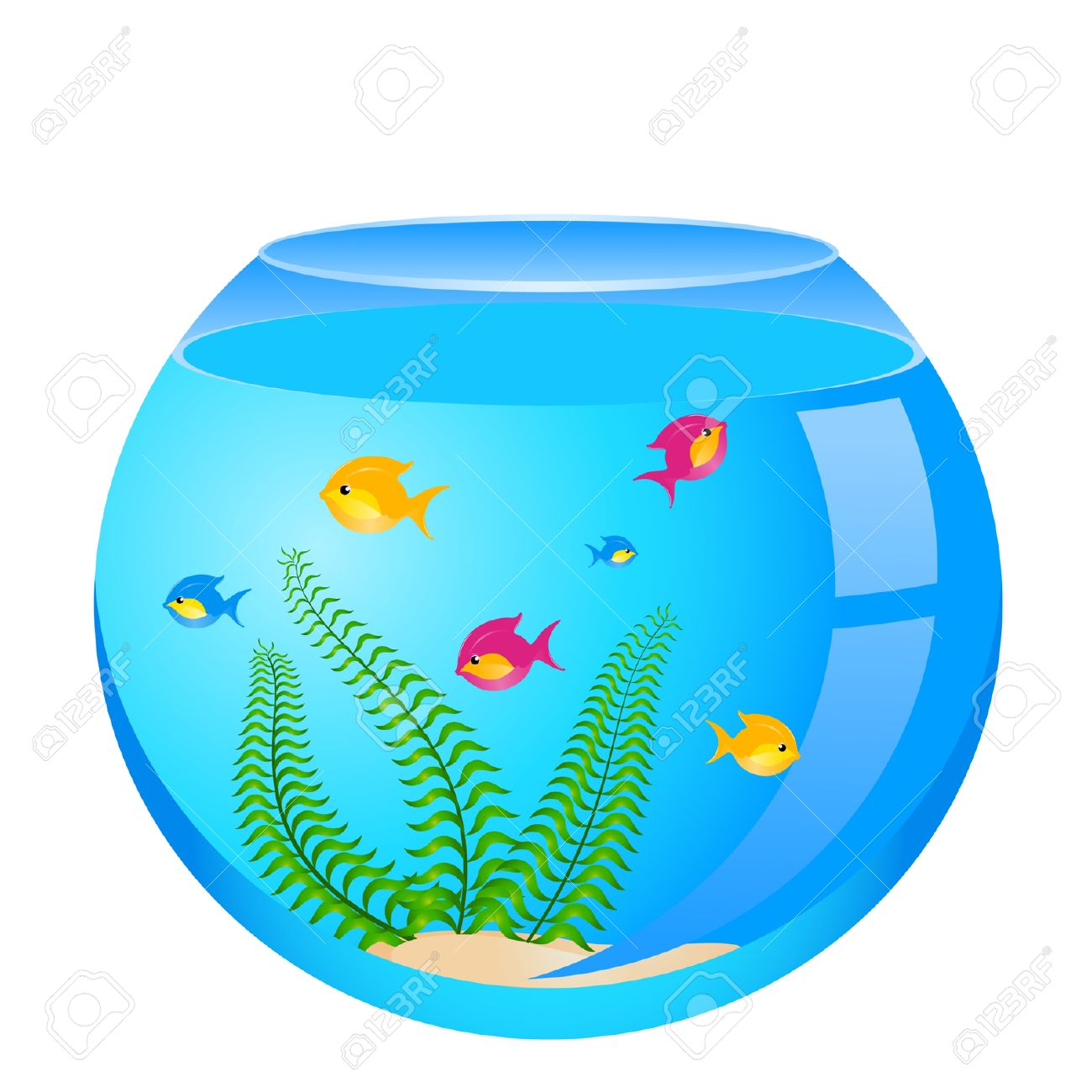 Fish bowl clipart free