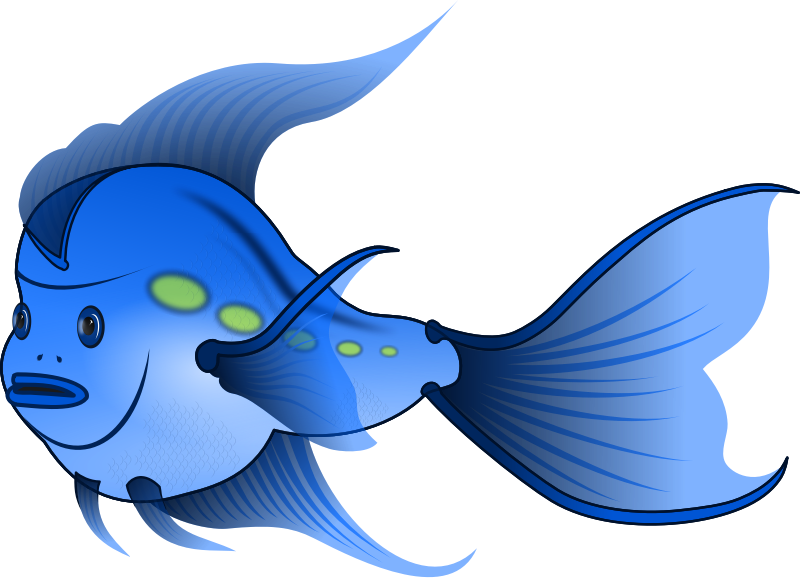 Swimming fish clipart