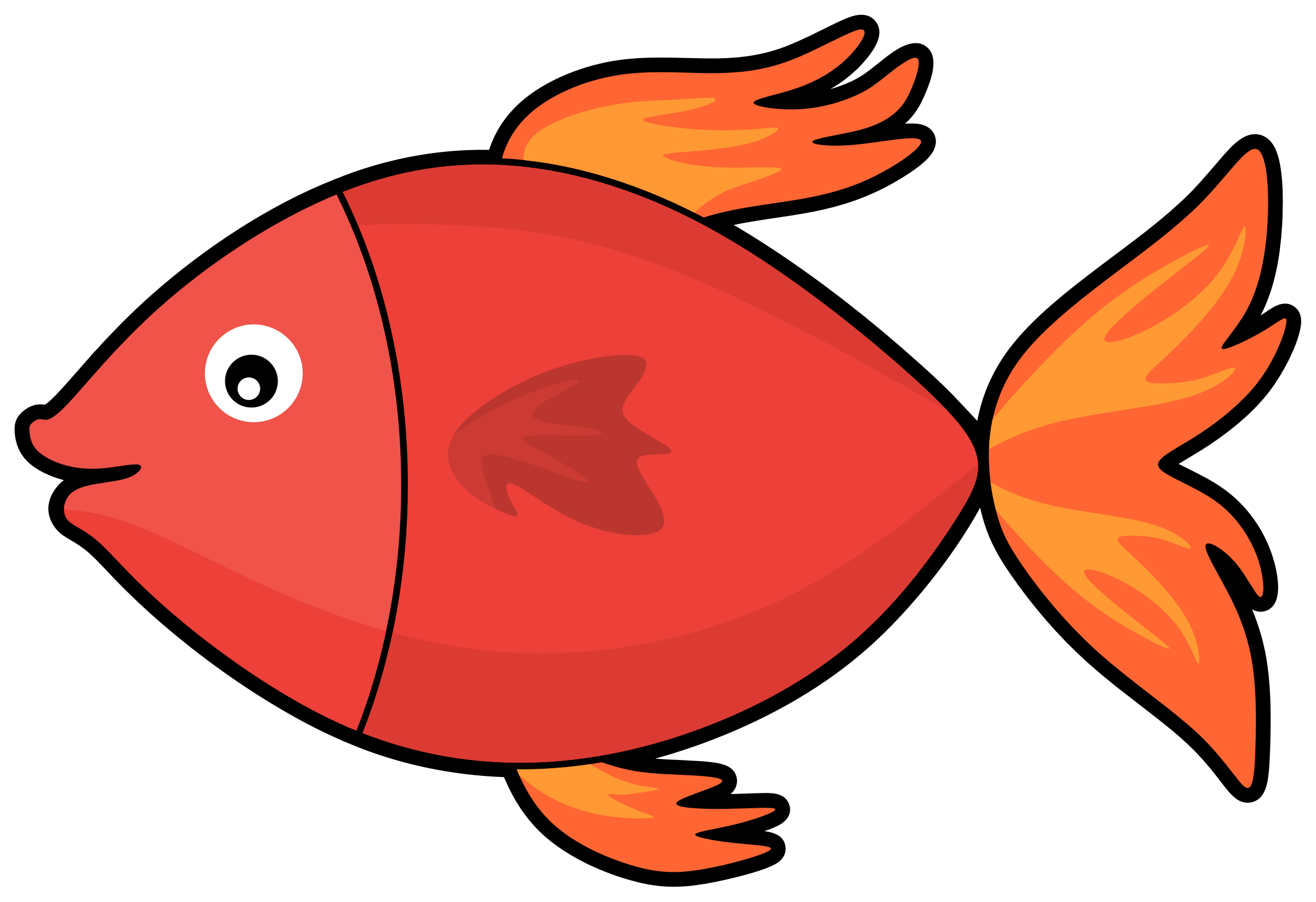 Fish pictures clipart. Butterfly at getdrawings com