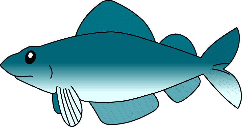 Fresh fish clipart banner black and white library Fish | Free Stock Photo | Illustration of a blue fish | # 2951 banner black and white library