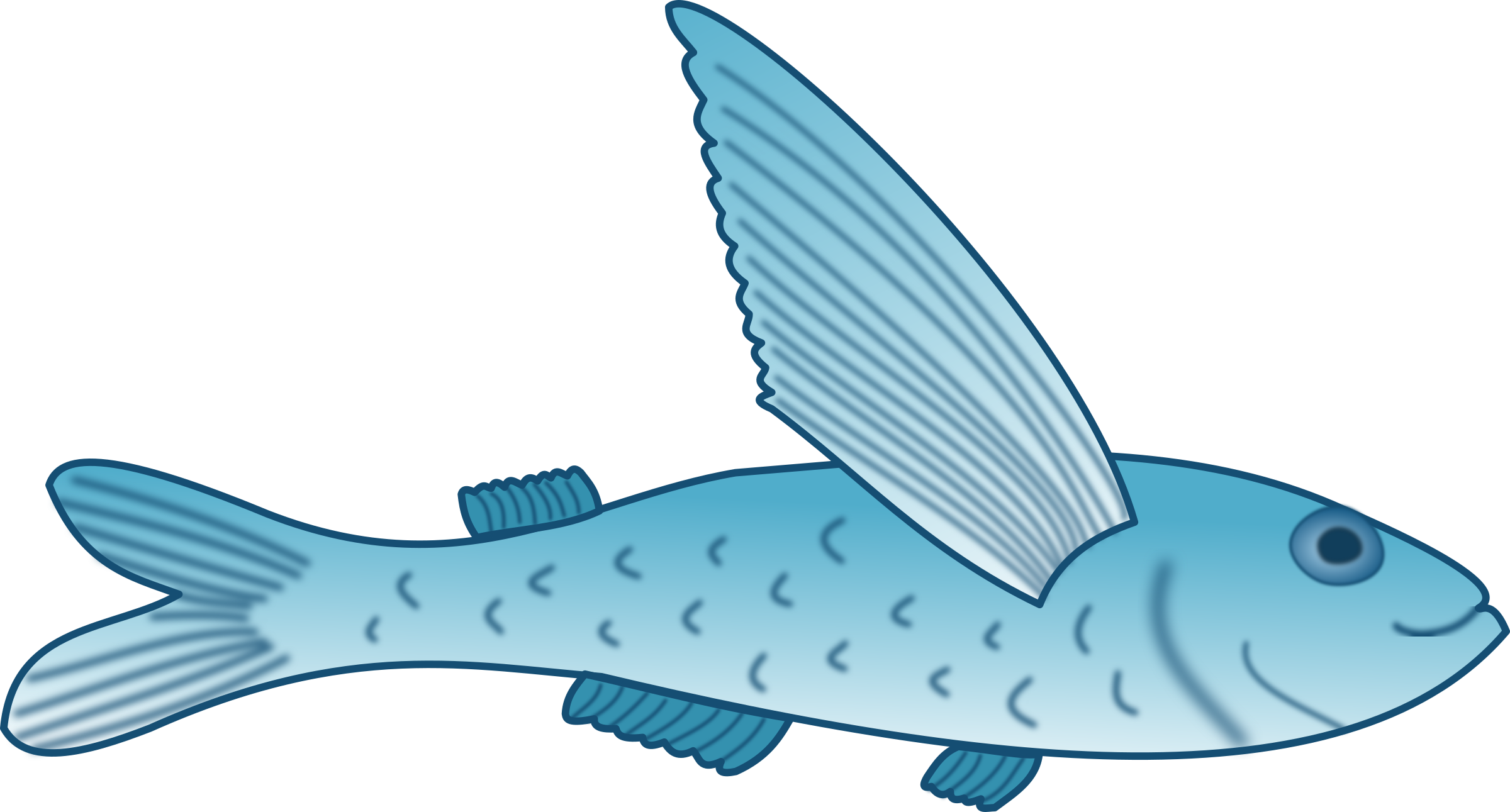 Fish jumping out of water clipart image free stock Important Clip Art Fish Clipart Flying #32141 image free stock