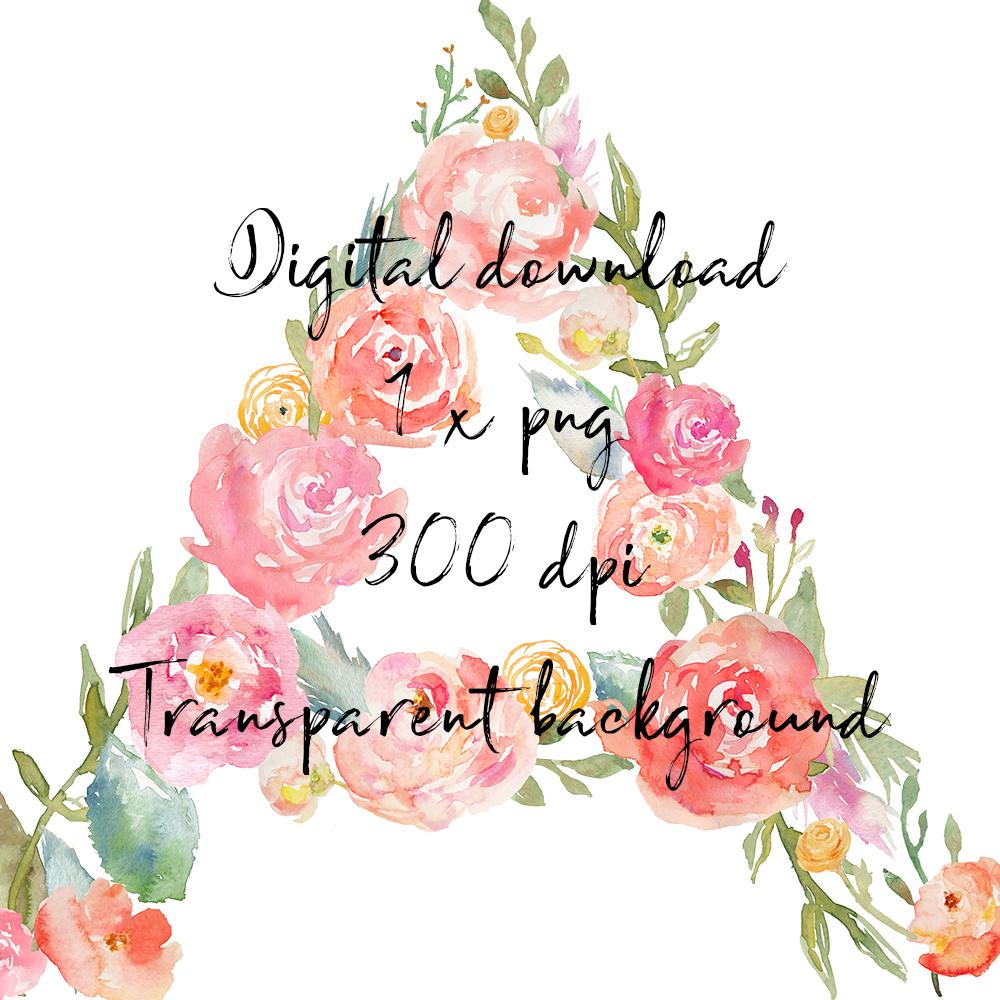 A floral monogram clipart jpg freeuse stock A Floral Monogram Letter Mug Design, Digital Download jpg freeuse stock