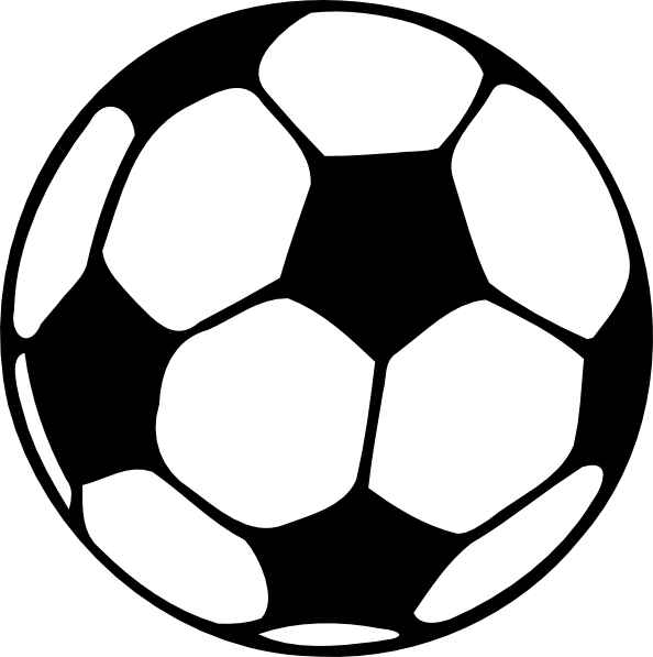 Black and white panda. Football image clipart
