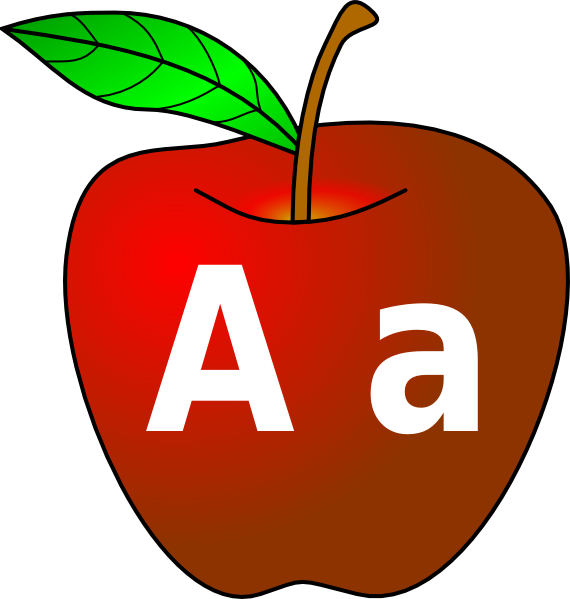 Apple with letter a clipart vector download Red Apple (lettering) Clip Art at Clker.com - vector clip art online ... vector download