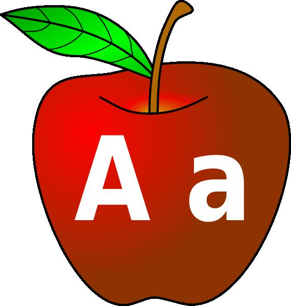 A for apple clipart jpg free Red Apple (lettering) Clip Art at Clker.com - vector clip art online ... jpg free