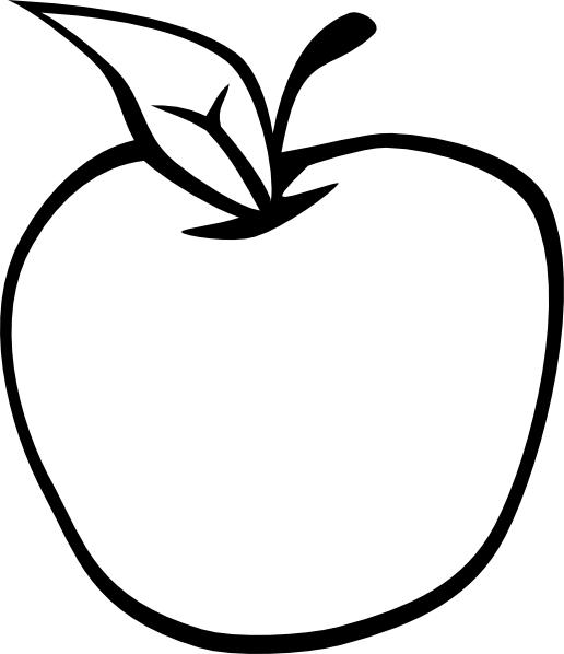 Black and white clipart apple picture black and white library Apple Clipart Black And White | Clipart Panda - Free Clipart Images picture black and white library