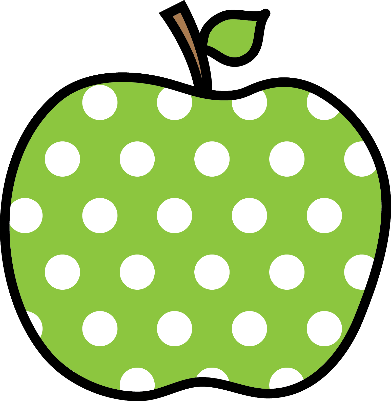 Letter a apple dot page clipart png free library 28+ Collection of Polka Dot Apple Clipart | High quality, free ... png free library