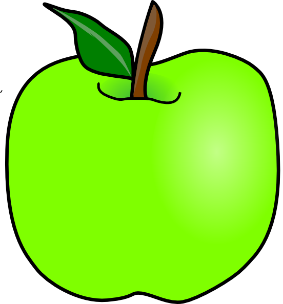 Apple outline clipart svg library Green Delicious Apple Clip Art at Clker.com - vector clip art online ... svg library