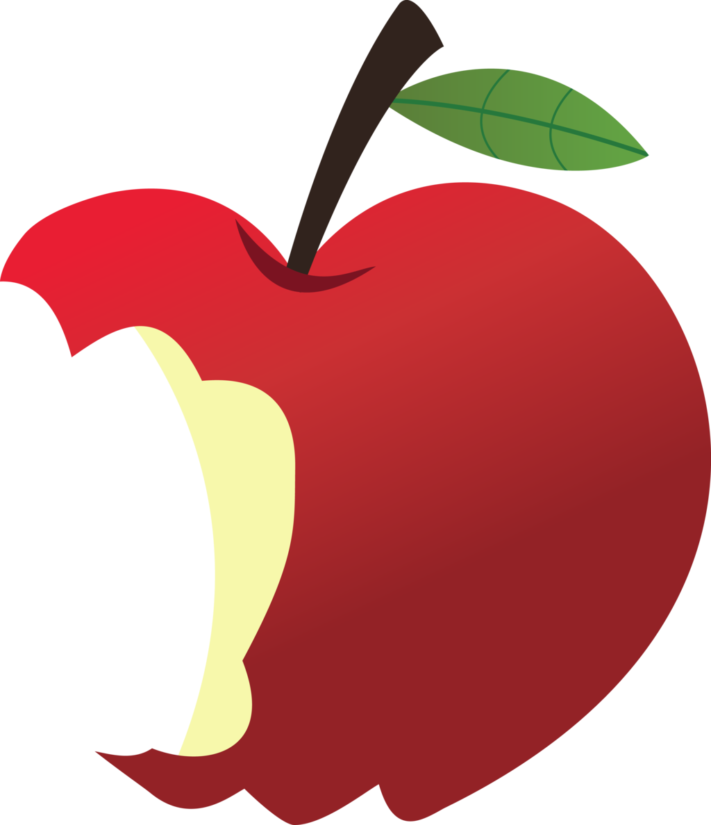 Heart apple clipart png library stock Bitten Apple Clipart - Imagens de clip art gratuitas | PINTURA EM ... png library stock