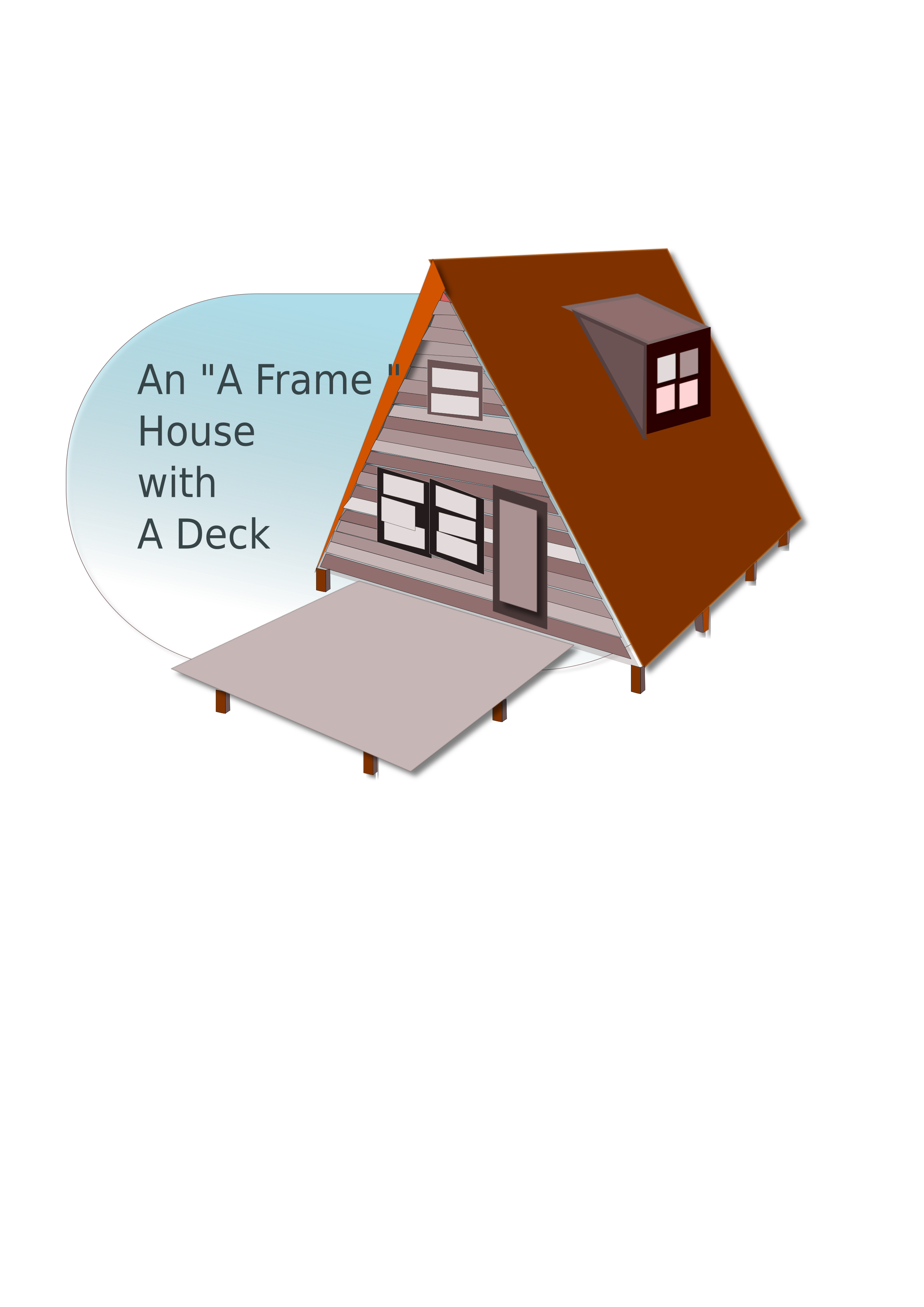 A frame house clipart image black and white library Clipart - A frame House image black and white library