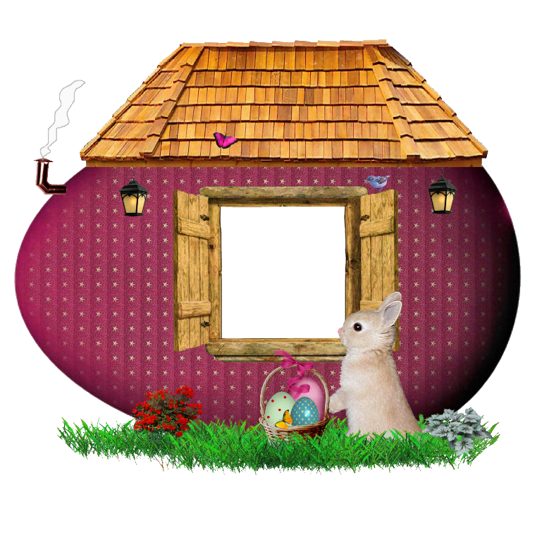 Easter Bunny House Frame | Gallery Yopriceville - High-Quality ... banner library