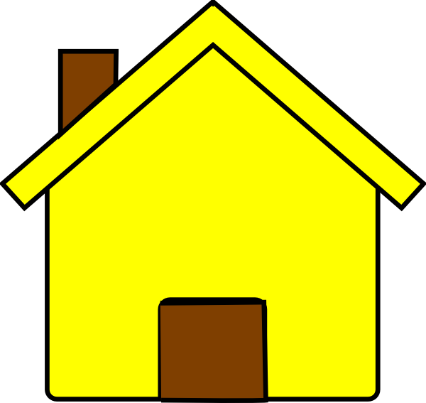House vector clipart picture freeuse library Yellow House Clip Art at Clker.com - vector clip art online, royalty ... picture freeuse library