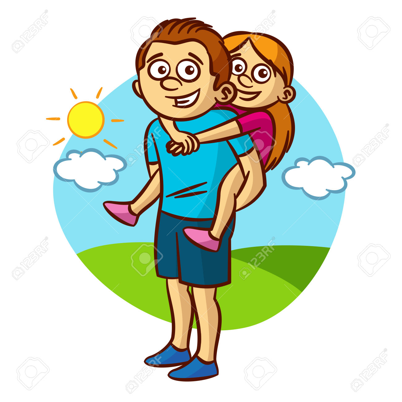 A fun dad clipart svg stock Dad and daughter walking » Clipart Station svg stock