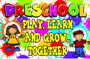 A fun place to play and learn clipart svg free library PRESCHOOL PLAY LEARN AND GROW TOGETHER POSTER svg free library