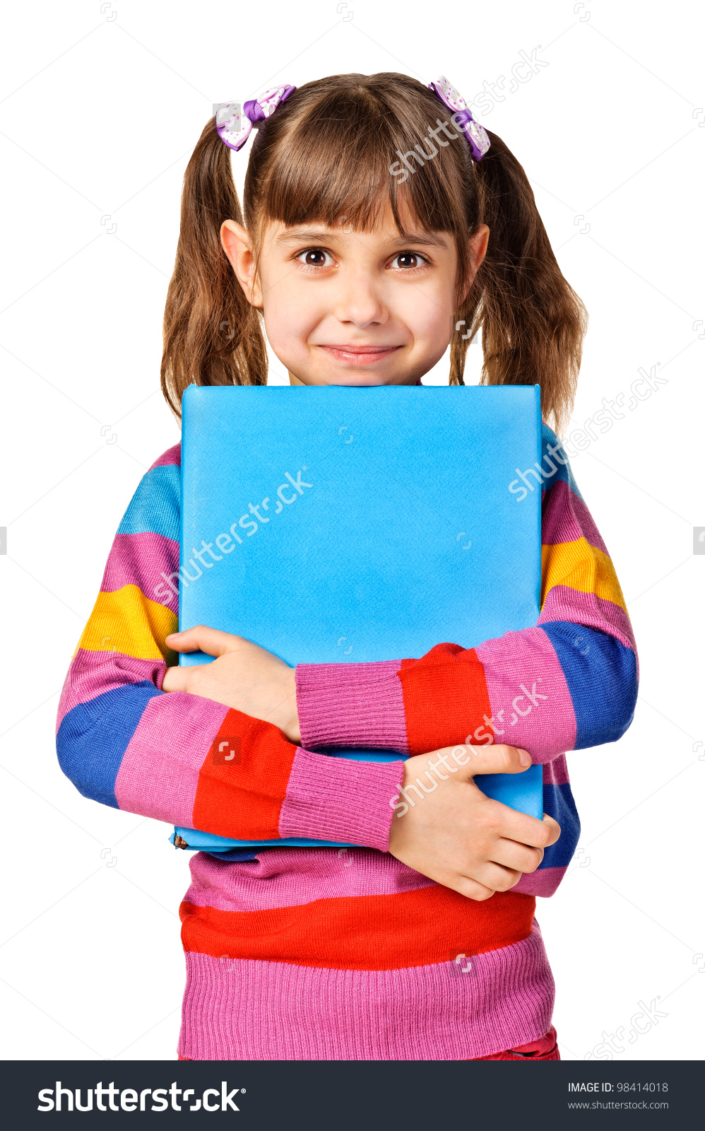 A girl holding a book image royalty free library Little Girl Holding Big Book Isolated Stock Photo 98414018 ... image royalty free library