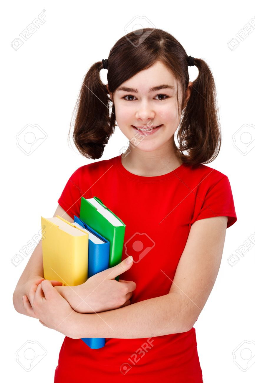 Clipartfest books isolated on. A girl holding a book
