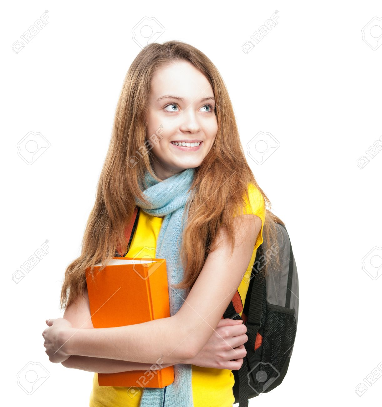 Stock photos pictures royalty. A girl holding a book