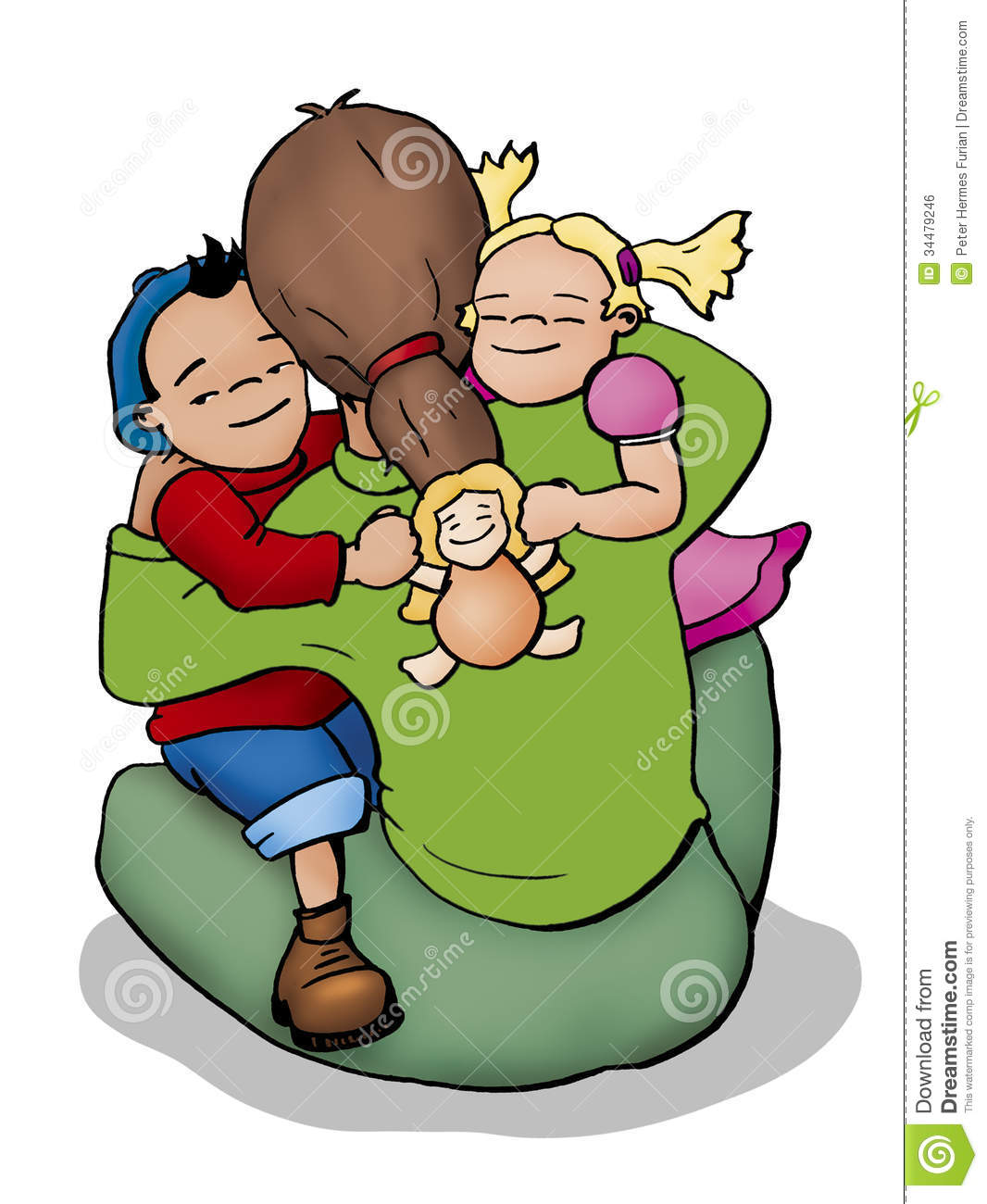 Girl Hugging Dog Clipart - Clipart Kid jpg library download