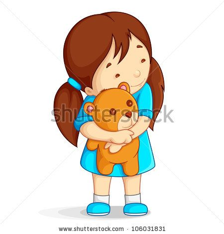 A girl hugging a girl clipart svg free download Girl hugging teddy bear clipart - ClipartFox svg free download