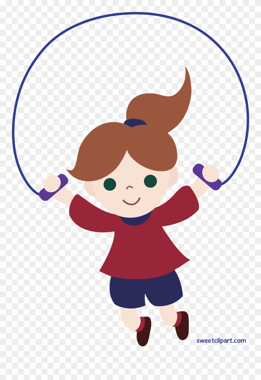 Clipart jumping graphic library download Clipart Girl Jumping Rope Clip Art Sweet - Png Download (#2494003 ... graphic library download