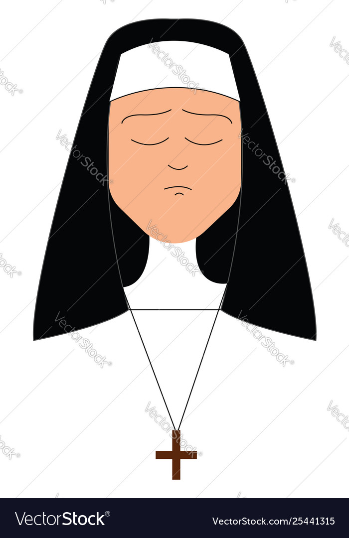 A girl with a plus sign clipart clip royalty free download Clipart a sad nun or color clip royalty free download