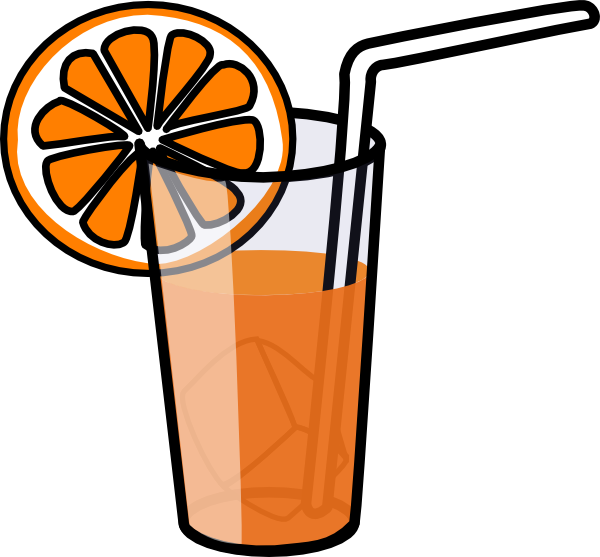 A glass of juice clipart banner black and white stock Orange Juice Clip Art at Clker.com - vector clip art online, royalty ... banner black and white stock