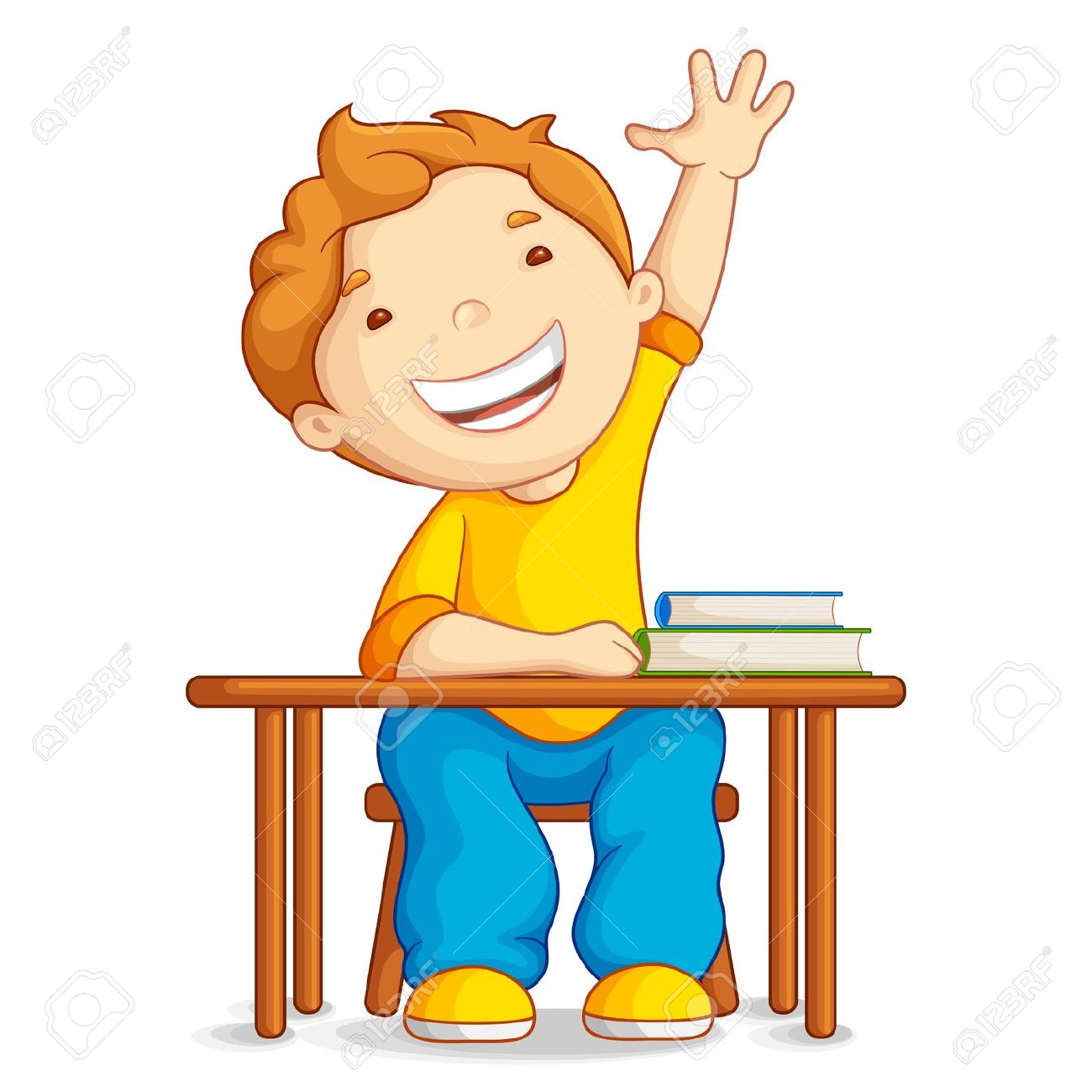 Kid scared raise hand school clipart picture free 96+ Student Clipart | ClipartLook picture free
