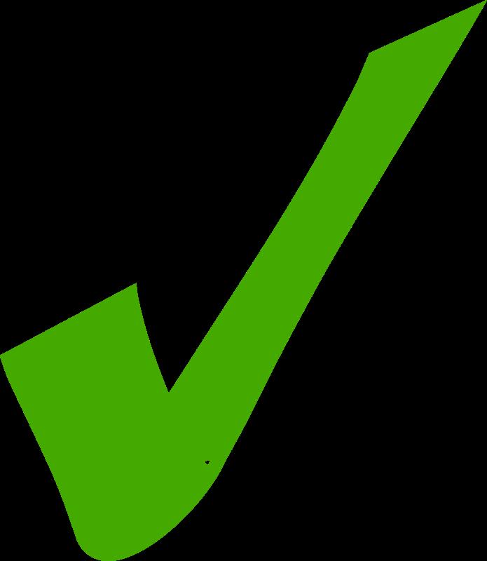 A green tick clipart