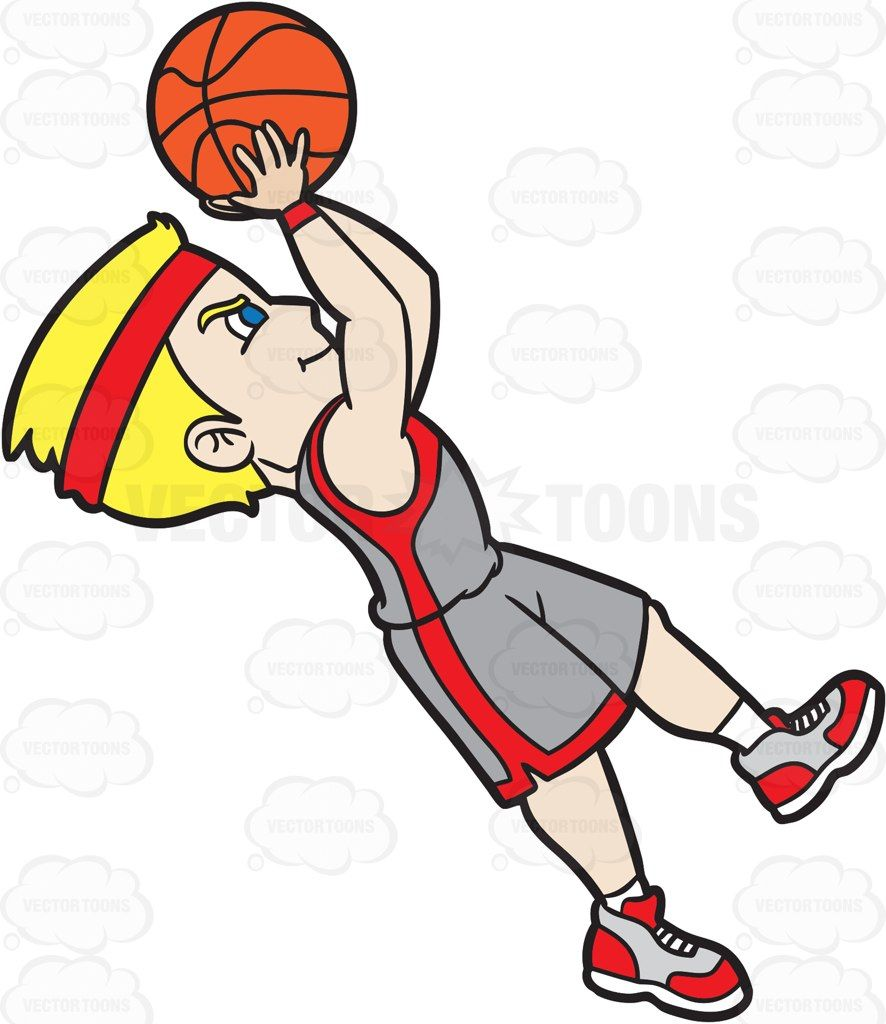 A guy shooting hoops clipart image black and white A Male Basketball Player Doing A Fade Away Shot #cartoon #clipart ... image black and white