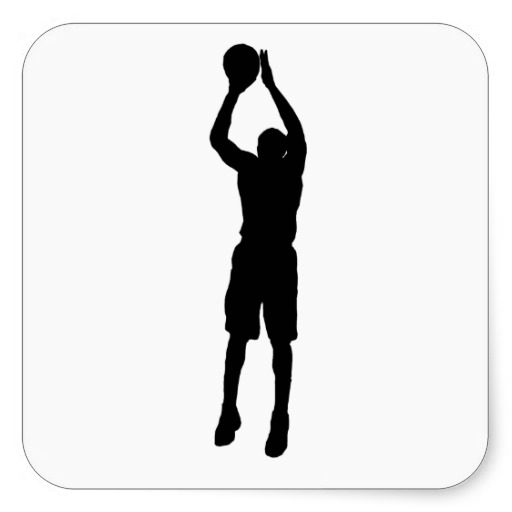 A guy shooting hoops clipart png black and white library Free Basketball Shooter Cliparts, Download Free Clip Art, Free Clip ... png black and white library