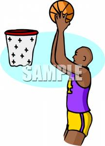 A guy shooting hoops clipart clip art stock A Black Basketball Player Shooting Hoops Clipart Picture clip art stock
