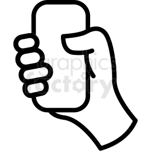 Hand holding clipart freeuse library hand holding phone vector icon . Royalty-free icon # 406817 freeuse library