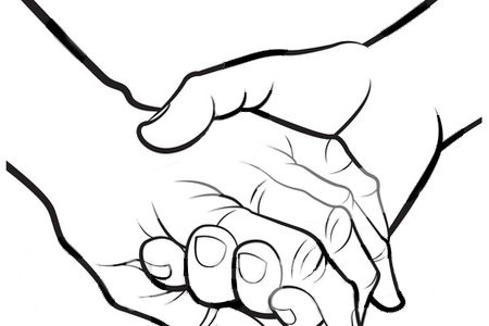 A hand holding a picture clipart png freeuse download Holding Hands Clipart Black And White | Free download best Holding ... png freeuse download