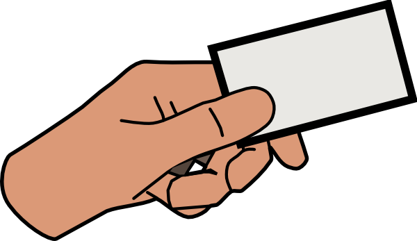 A hand holding a picture clipart jpg black and white library Simple Cartoon Hand Holding Card Clip Art at Clker.com - vector clip ... jpg black and white library